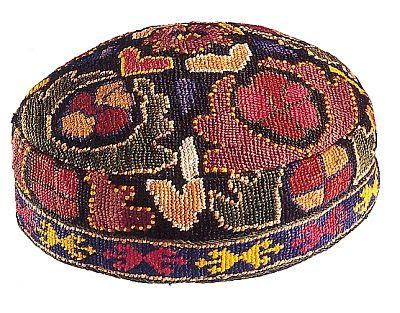 emroidered uzbek skull cap