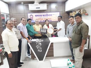 समरस फाउंडेशन ने किया सामाजिक कार्यकर्ता ममता सिंह का सम्मान    #NayaSaberaNetwork