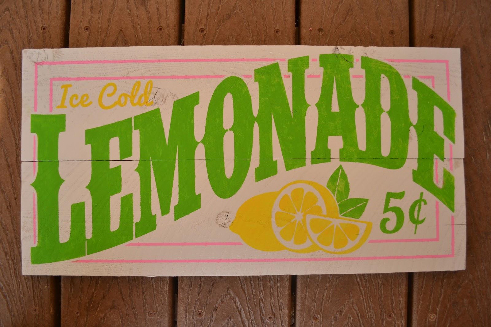 DIY Old-Fashioned Lemonade Sign - Burton AvenueLemonade Sign