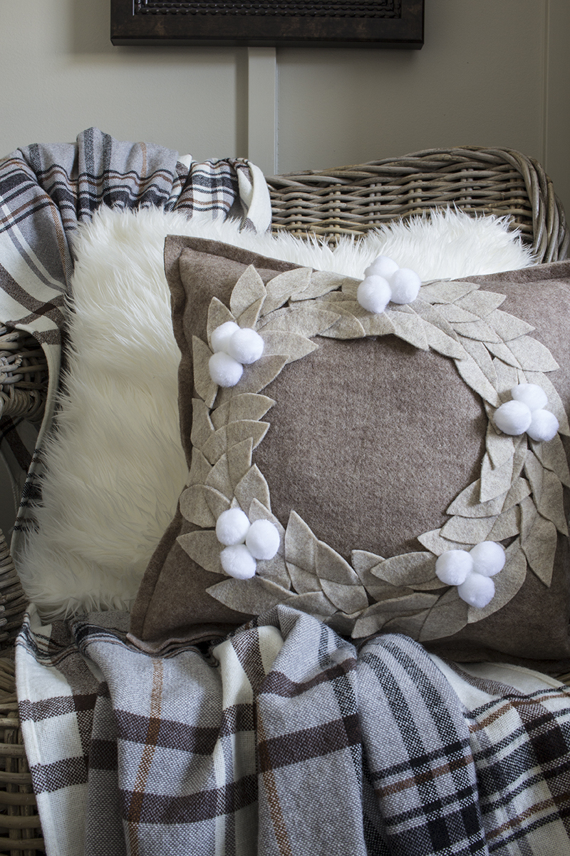 DIY Felted Wool Pillow