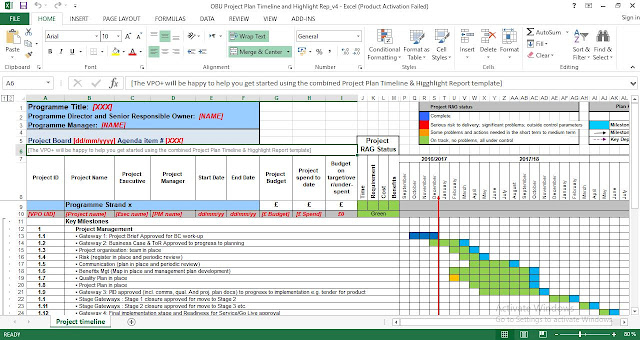 Project Plan Timeline Template Excel