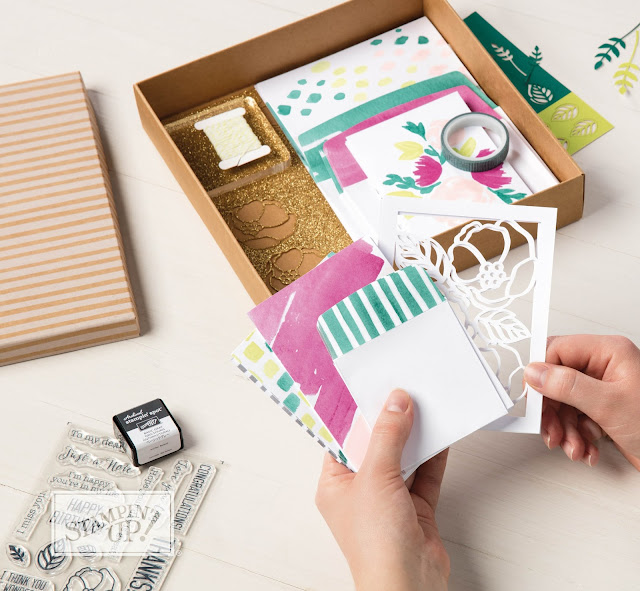 kit de cartes douces notes stampinup