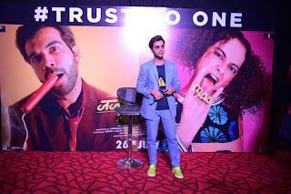राजकुमार राव ने दिल्ली में किया फिल्म 'जजमेंटल है क्या' का ट्रेलर लॉन्च