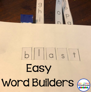 Students use these easy word builders in small group phonics instruction.