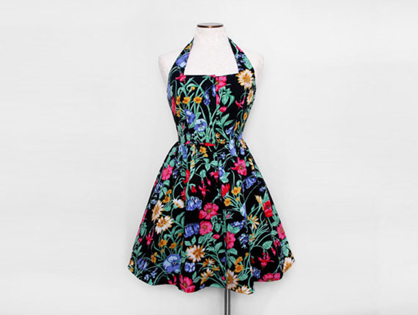 Fancy That Vintage floral halter dress | Room 334