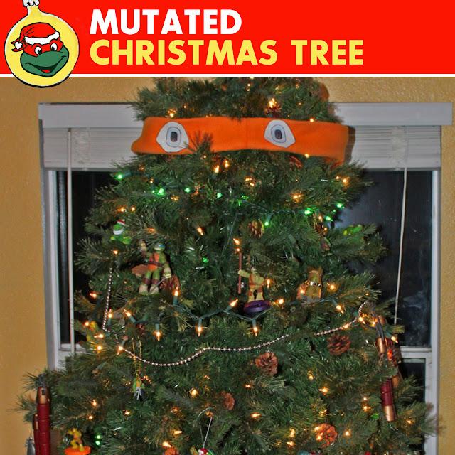 Ninja Turtle Christmas Tree.The Sewer Den Cowabunga Christmas Mutated Christmas Tree