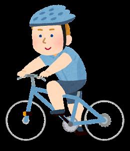サイクリングをする人のイラスト(白人男性)