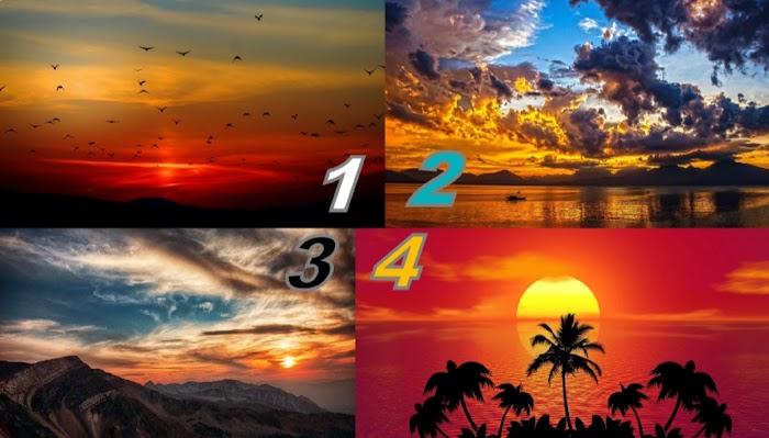 Выберите фотографию заката и прочитайте предсказание на апрель