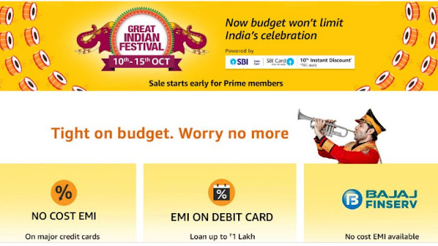 Amazon Announces Great Indian Festival sale from October 10