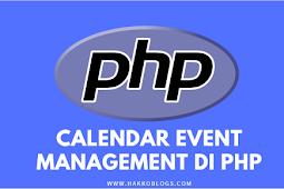 Calendar Event Management dengan PHP, MySQL dan Full Calendar