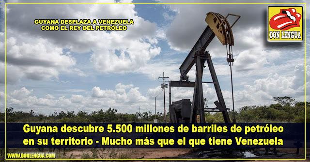 Guyana descubre 5.500 millones de barriles de petróleo en su territorio - Más que Venezuela