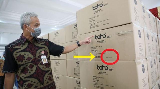 Ganjar Kaget..!! Impor 10.000 APD dari China, Ternyata Made In Indonesia