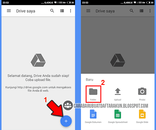 cara upload file di google drive android