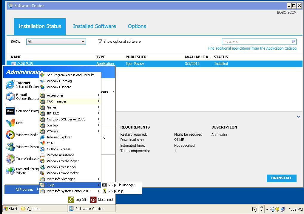 WIKI style faq IT knowledge base: SCCM 2012 client