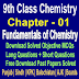 Fundamentals of Chemistry | Chemistry 9 Class Notes - Easy Notes