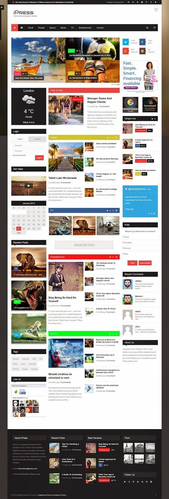 Premium News WordPress Theme 2015