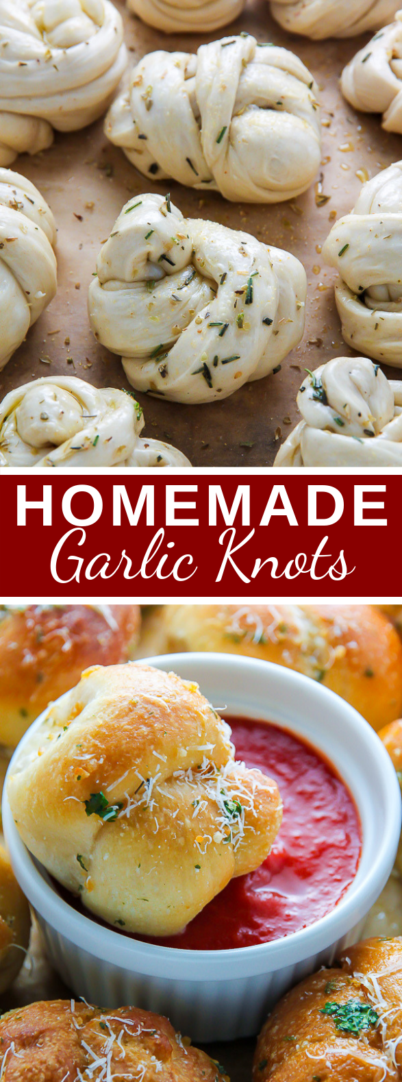 Homemade Garlic Knots #appetizers #lunch #dinner #meals #comfortfood