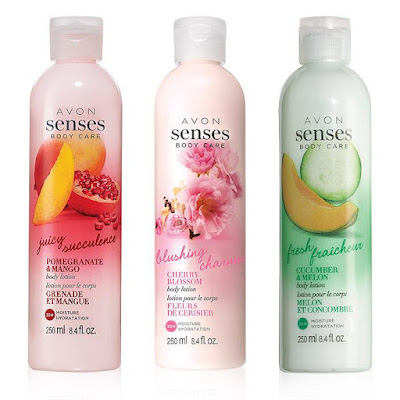 Avon Catalog Senses Body Lotion Trio