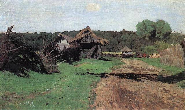 Исаак Ильич Левитан - Въезд в деревню. 1884