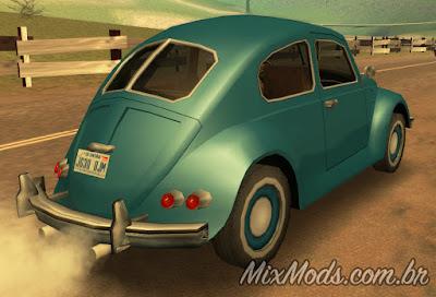 gta sa san mod vw beetle fusca sa style bf bug lowpoly