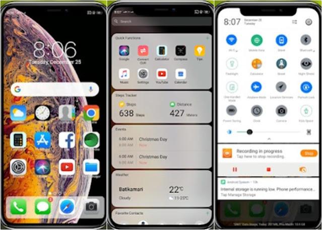 Tema iPhone Untuk Oppo A71 A53 A37 A57 A3S F1 F5 F7 A37F F9 A83 A39