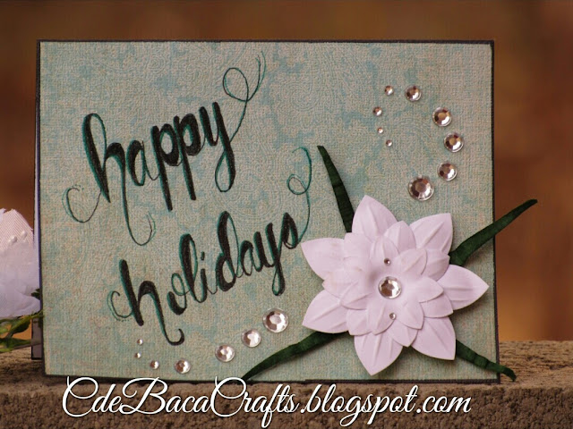 Handmade holiday card by CdeBaca Crafts.