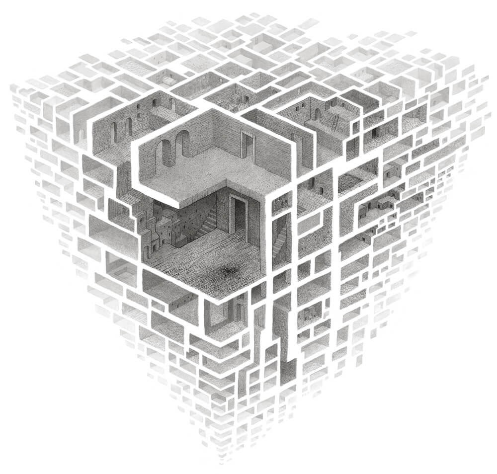 11-Untitled-Matt-Borrett-Hiding-in-a-Safe-Architectural-Labyrinth-Drawing-www-designstack-co