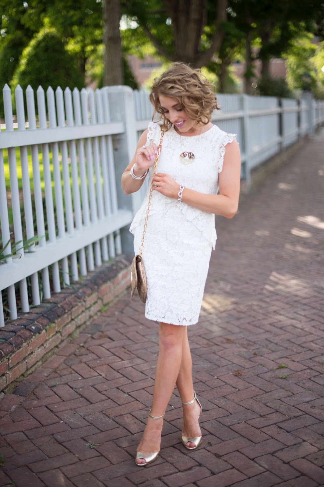 Ivory Lace Dress - Click through to see more on Something Delightful Blog.