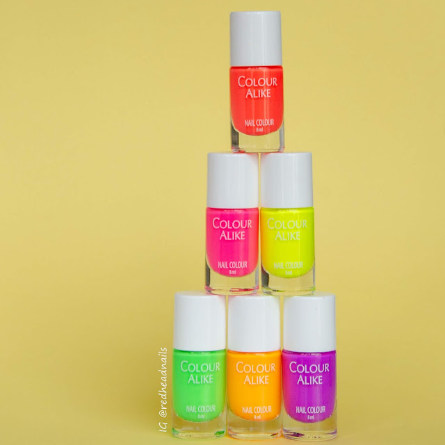 Neon stamping polishes review and swatches