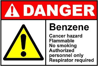Simbol peringatan bahaya dari limbah B3 Benzena