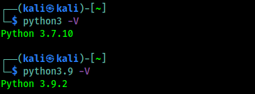 python default version is lower