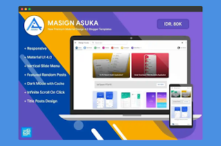 Masign Asuka Responsive Blogger Template Free Download|