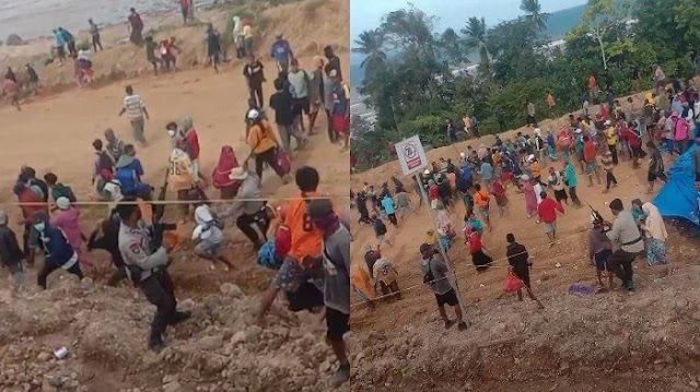Mahasiswa dan Nelayan Ditangkap Polisi saat Demo Tambang di Laonti Konawe Selatan