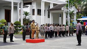 Danrem 061/Sk Hadiri Apel Gabungan Terkait Launching Satgas Khusus PPKM di Kota Bogor