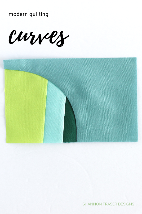Modern improv curves | Q4 Finish-a-Long Projects | Shannon Fraser Designs #quiltedcurves #modernimprov