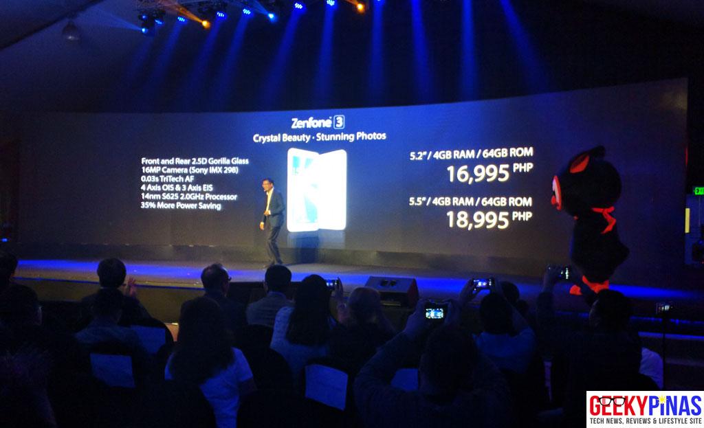 ASUS Zenfone 3 (ZE552KL/ZE520KL) Specifications