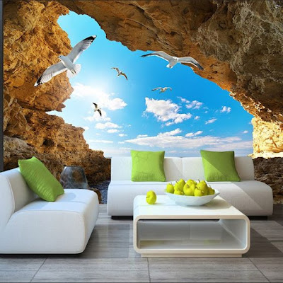 3D wallpaper design ideas for home walls 2019
