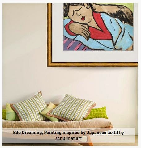 asian art by @schulmanArt with decorating idea