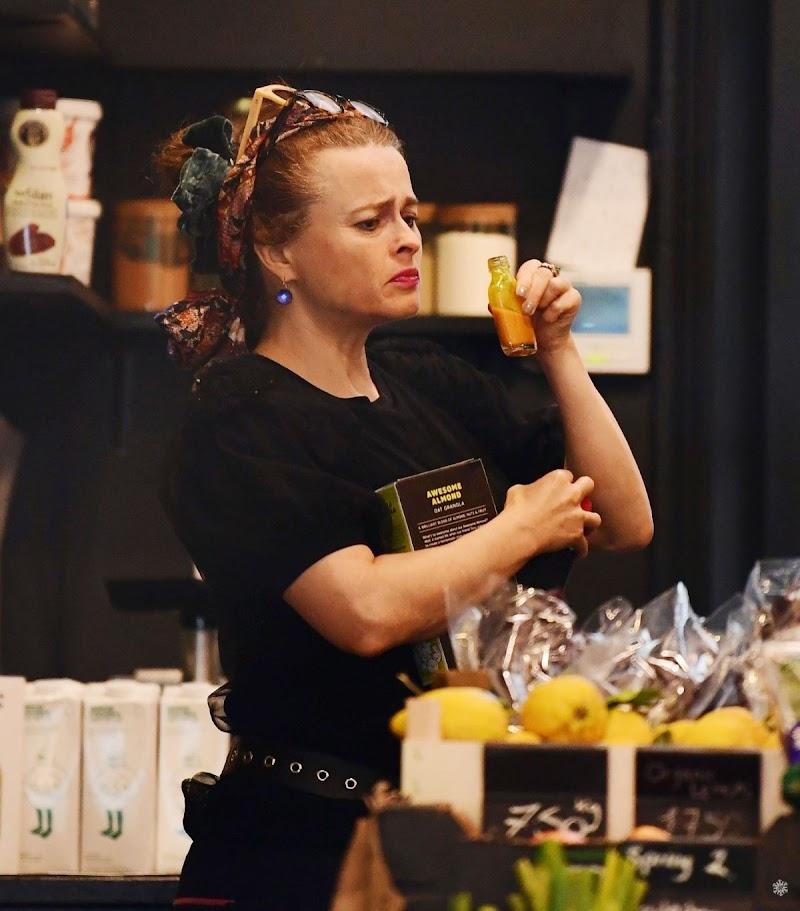 Helena Bonham Carter Clicks at a Juice Shop in London 21 Jun -2020
