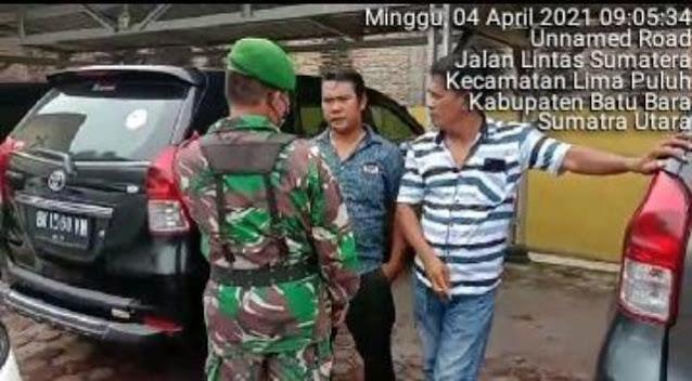 Personel jaajran Kodim 0208/Asahan Lakukan Komsos Dalam Rangka Perayaan Paskah