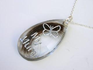 Personalised keepsake necklace for hair