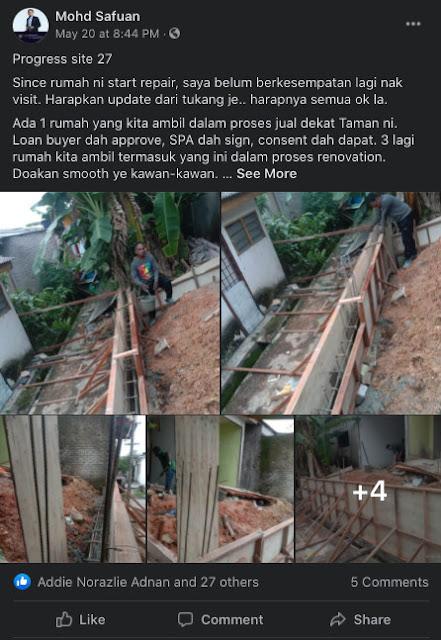 Contoh rumah busuk yang pernah diuruskan oleh tuan Mohd Safuan (Site no 27)