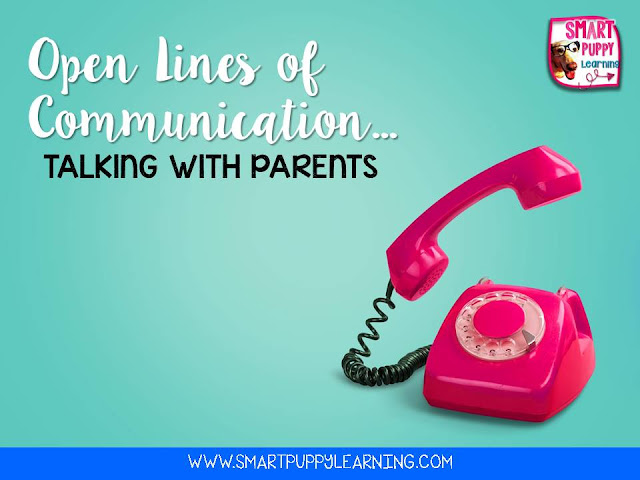 Open lines of communication with parents