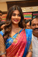 Puja Hegde looks stunning in Red saree at launch of Anutex shopping mall ~ Celebrities Galleries 017.JPG