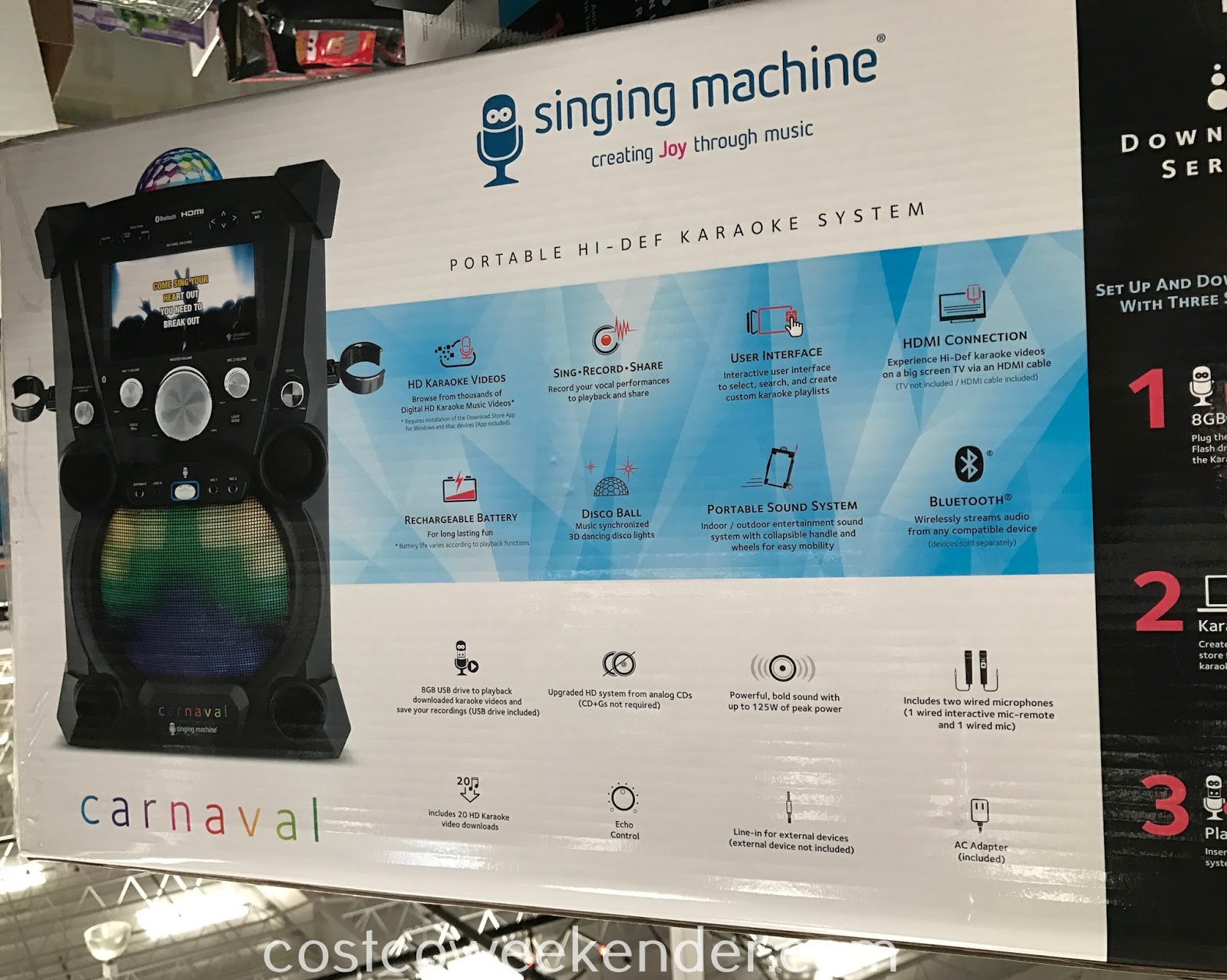 Costco 1009035 - Singing Machine Portable Hi-Def Karaoke System SDL9035: just in time for the family holiday season!