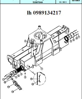 Khung chính Cẩu thủy lực Dong Yang SS1506 sức nâng lớn nhất 7 tấn