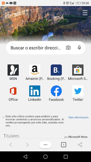 Fondo de pantalla del navegador Edge