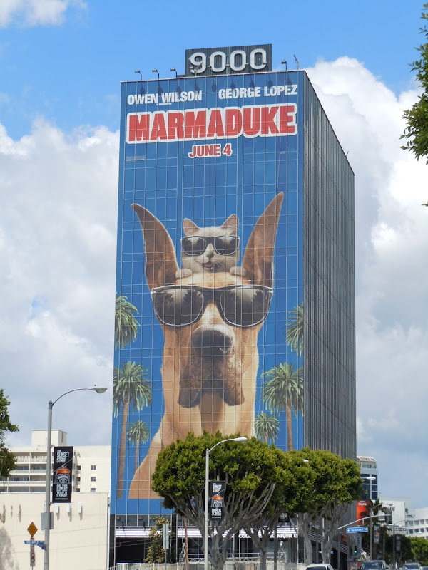 Giant Marmaduke movie billboard