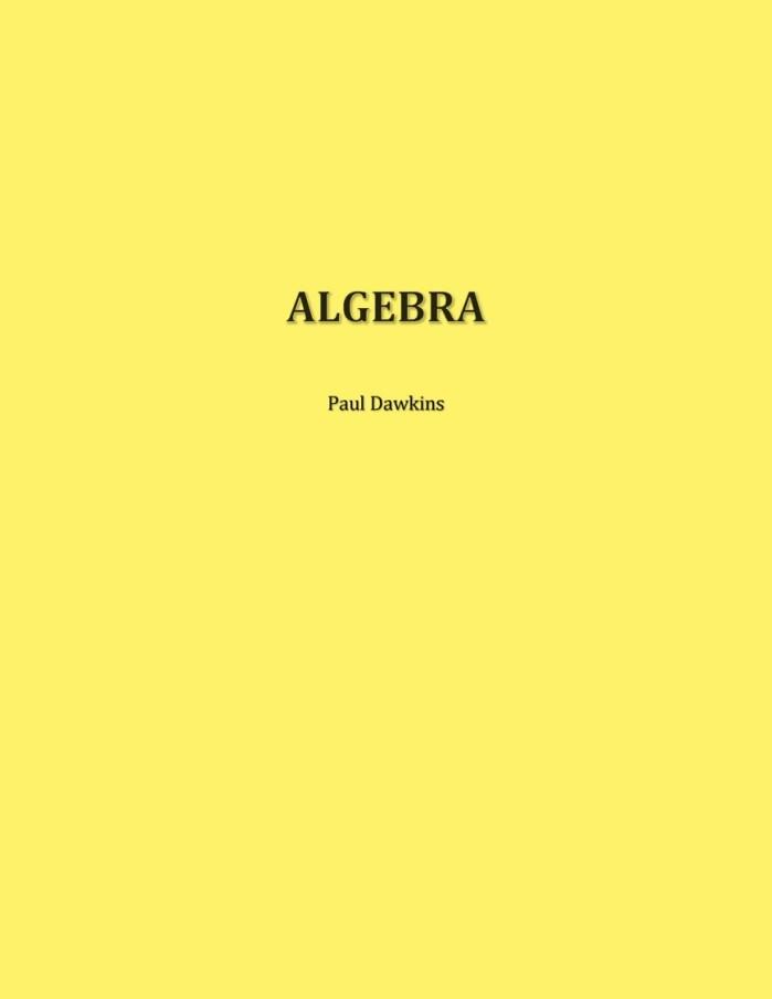 Algebra – Paul Dawkins [Completo]