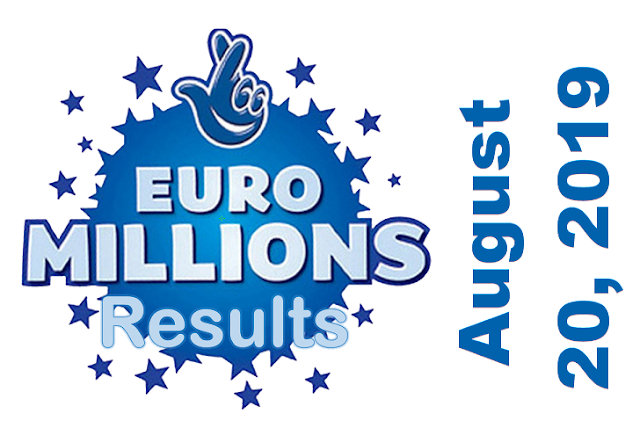 EuroMillions Results for Tuesday, August 20, 2019